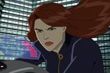 Avengers Assemble Animation Still Featuring Black Widow Poster