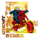 Marvel Comics Retro Badge Featuring Ghost Rider Posters