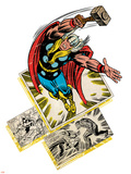 Marvel Comics Retro Badge Featuring Thor Plastic Sign