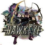 Marvel Comics Retro Badge Featuring Hawkeye Photo