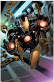 Iron Man 1 cover Featuring Iron Man Poster by Greg Land