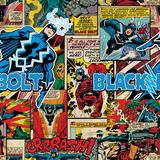 Marvel Comics Retro Pattern Design Featuring Black Bolt Wall Decal