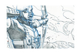 Avengers Assemble Pencils Featuring Hawkeye Posters