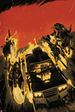 Ghost Racers 1 Cover Featuring Ghost Rider, Phantom Rider Plastic Sign by Francesco Francavilla