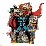 Marvel Comics Retro Badge Featuring Thor Prints