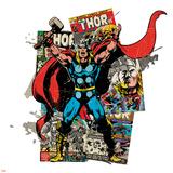 Marvel Comics Retro Badge Featuring Thor Prints