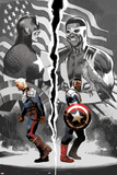Sam Wilson, Captain America 1 with Steve Rogers, Falcon Cap, Captain America, Redwing, Falcon Prints by Daniel Acuna