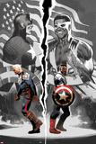 Sam Wilson, Captain America 1 with Steve Rogers, Falcon Cap, Captain America, Redwing, Falcon Prints by Daniel Acuna