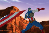Avengers Assemble Animation Still Featuring Captain America Prints