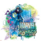 Marvel Comics Retro Badge Featuring Black Widow Print