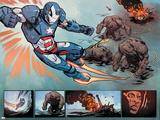 "Iron Patriot 1 Featuring Iron Patriot, James ""Rhodey"" Rhodes Plastic Sign by Garry Brown"