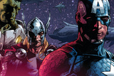 Avengers Assemble Panel Featuring Hulk, Thor, Captain America Posters