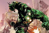 Avengers Assemble Artwork Featuring Hulk Plastic Sign