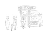 New Yorker Cartoon Regular Giclee Print by Saul Steinberg