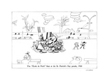"The ""École de Paris"" ?oat at the St. Patrick's Day parade, 1968 - New Yorker Cartoon Premium Giclee Print by Saul Steinberg"