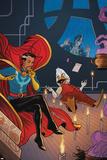 Howard the Duck 4 Cover Featuring Dr. Strange, Howard the Duck, Tara Tam Print by Joe Quinones