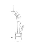 V-mail - New Yorker Cartoon Premium Giclee Print by Saul Steinberg