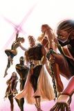 Squadron Supreme 1 Cover with Blur, Doctor Spectrum, Nighthawk, Warrior Woman, Hyperion, Thundra Bilder av Alex Ross