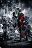 Ant-Man 1 Cover Featuring Ant-Man, Giant Man, Whirlwind, Porcupine, Beetle, Grizzly Plastic Sign by Mark Brooks