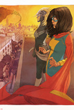 Ms. Marvel (Kamala Khan),Captain Marvel Featuring Ms. Marvel (Kamala Khan), Captain Marvel Photo by Adrian Alphona