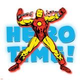 Marvel Comics Retro Badge Featuring Iron Man Prints