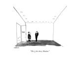 New Yorker Cartoon Premium Giclee Print by James Stevenson
