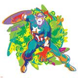 Marvel Comics Retro Badge Featuring Captain America Posters