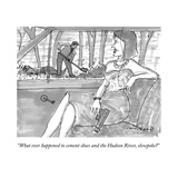 """What ever happened to cement shoes and the Hudson River, slowpoke?"" - New Yorker Cartoon Premium Giclee Print by Michael Crawford"