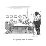 """Could I please go back to the rack now?"" - New Yorker Cartoon Premium Giclee Print by Liam Walsh"