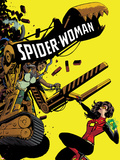 Spider-Woman 8 Cover Featuring Spider Woman, Lady Caterpillar Plastic Sign by Javier Rodriguez