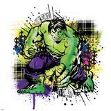 Marvel Comics Retro Badge Featuring Hulk Posters