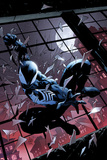 Amazing Spider-Man: Renew your Vows 3 Featuring Black Costume Spider-Man Plastic Sign by Adam Kubert