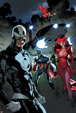 All-New X-Men 11 Featuring Havok, Scarlet Witch, Captain America, Thor, Rogue Plastic Sign by Stuart Immonen
