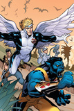 Uncanny X-Men 506 Cover Featuring Beast, Angel Posters by Terry Dodson