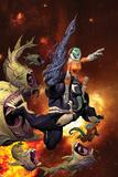 Venom: Spaceknight #1 Cover Featuring Venom Plastikskilte af Ariel Olivetti
