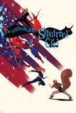 The Unbeatable Squirrel Girl 7 Cover with Squirrel Girl, Black Widow, Falcon Cap & More Plastic Sign by Erica Henderson