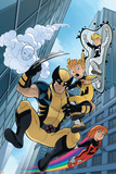 Wolverine And Power Pack 4 Cover Featuring Wolverine, Lightspeed, Energizer, Mass Master, Zero-G Posters by 0 Gurihiru