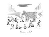 """Business is terrible."" - New Yorker Cartoon Premium Giclee Print by Mick Stevens"