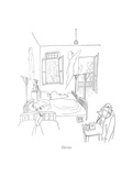 Siesta - New Yorker Cartoon Premium Giclee Print by Saul Steinberg