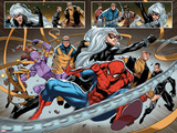 The Amazing Spider-Man 18.1 with Wraith (Watanabe), Spider-Man, Black Cat, Fancy Dan, Ox & More Wall Decal by Carlo Barberi