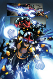 New Warriors 3 Featuring Nova, Scarlet Spider Wall Decal by Marcus To