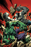 Ultimate End 2 Cover Featuring Gray Hulk, Hulk Print by Mark Bagley