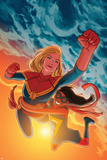 Ms. Marvel 17 Featuring Ms. Marvel, Captain Marvel Plastic Sign by Kris Anka