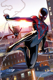 Ultimate Comics Spider-Man 25 Featuring Spider-Man, Spider Woman Plastic Sign by David Marquez