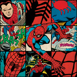 Marvel Comics Retro Badge Featuring Spider Man Prints