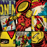 Marvel Comics Retro Badge Featuring Iron Man Prints