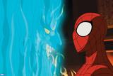 Ultimate Spider-Man Animation Still Plastic Sign