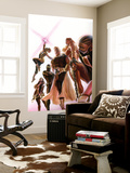 Squadron Supreme 1 Cover with Blur, Doctor Spectrum, Nighthawk, Warrior Woman, Hyperion, Thundra Wall Mural by Alex Ross