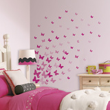 Pink Flutter Butterflies Peel And Stick Wall Decals Wall Decal
