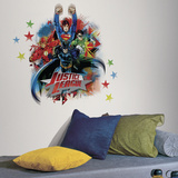 Justice League Peel & Stick Giant Wall Decals Wall Decal
